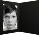 Portraitmappe  Leinenkarton schwarz 13x18cm