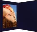 Portraitmappe  Strukturkarton dunkelblau 13x18cm
