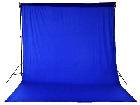 Chromakey Studiohintergrund 3 x 6 m blau