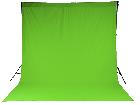 Chromakey Studiohintergrund 3 x 6 m grün