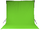 Chromakey Studiohintergrund 3 x 8 m grün