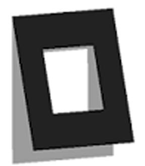 Außenformat 13x18 - Ausschnitt 6x6