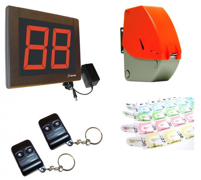 Nummernspender mit Display