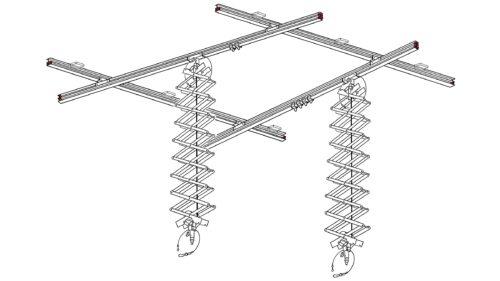 Deckenschienensystem 3x4m